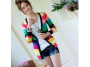 Rainbow Cardy Knit